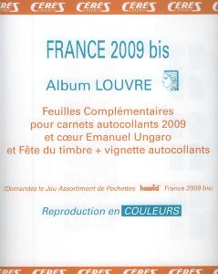 Feuilles complementaires timbres autocollants 2009 Louvre Standard Edition Ceres