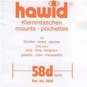 10 bandes Hawid double soudure fond transparent 210 x 58 mm HA2058
