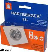 boite de 25 etuis cartons autocollants 48 mm Hartberger 8320048