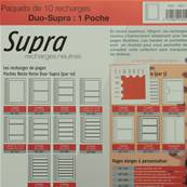 10 recharges Duo Supra 1 poche Yvert et Tellier 1801
