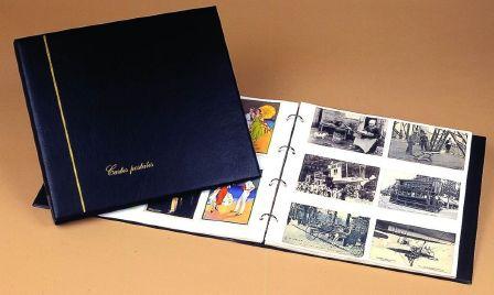 ALBUM CLASSEUR LUXE Vide Noir pour Cartes Postales anciennes ou modernes