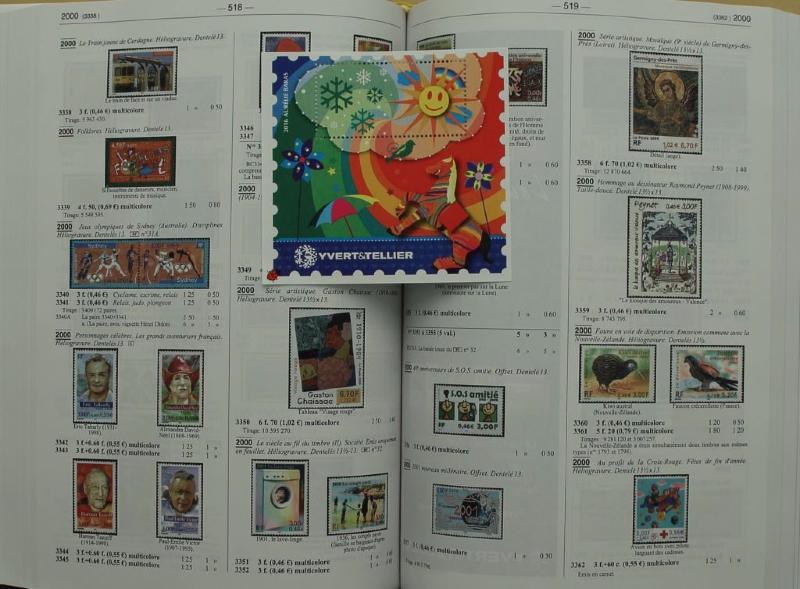 catalogue de cotation des timbres de france 2016 yvert et tellier 4812. Black Bedroom Furniture Sets. Home Design Ideas